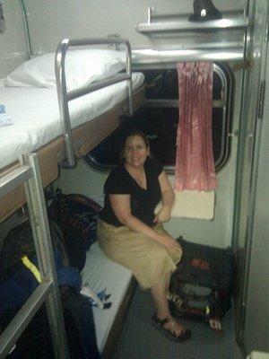 bottom bunk is for the husky gentleman lady...