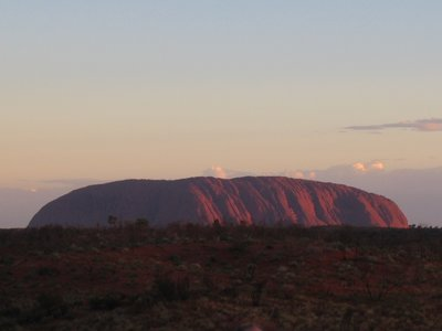 Sunset over Ayers Rock