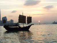 Sunset over Hong Kong Harbour