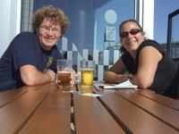 A cold beer in the warm Arctic Circle