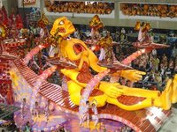 One of the floats in the sambadrome