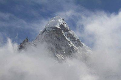 Ama Dablam through the clouds