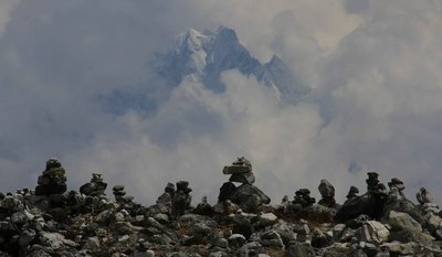 Mountains and Monuments at Gokyo Lake 1
