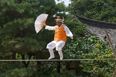Acrobats at the Korean Folk Village