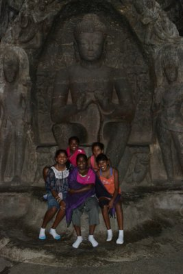 Ellora caves near Aurangabad at the foot of the Mahavira