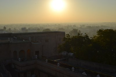 Sunset over Mandawa