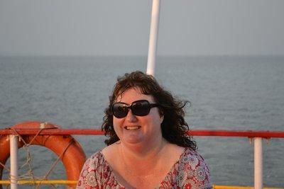 Me looking hot and sweaty after Elephanta Island