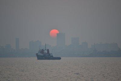 Sunset over Mumbai