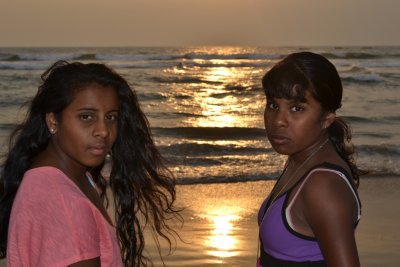 The Girls at Calangute