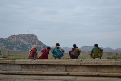 Ladies Picnicing at Vittala Temple