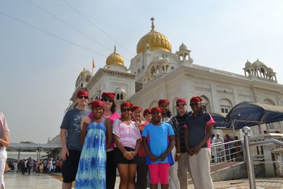 Our group at Gurudwara Bangla Sahib in Delhi