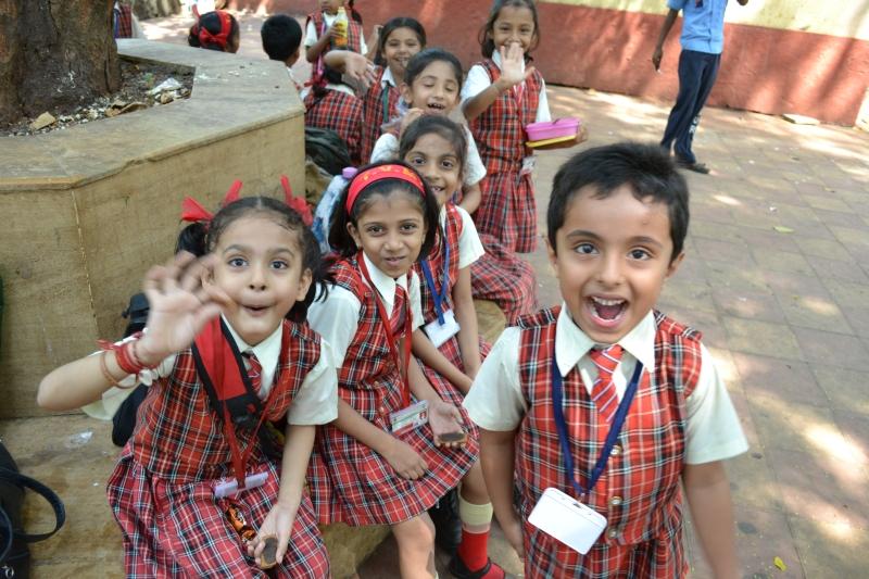 School Kids at Hanging Gardens