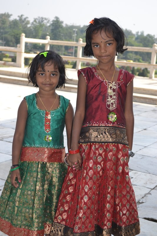 Sisters at Red Fort