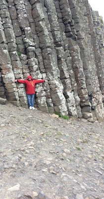 Valda at the Giants Causeway in Northern Ireeland