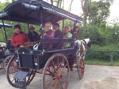 Our trip on the Jaunting cart in Killarney, Ireland