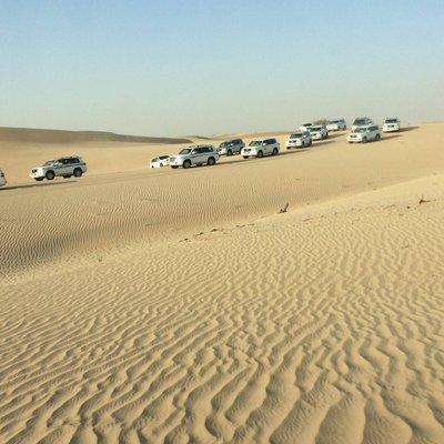 4 wheel drive safari in the desert near Abu DhBi