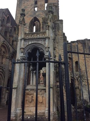 The Abby in Jedburgh, Scotland destroyed in 1500s on order of Kind Henry VIII and never restored