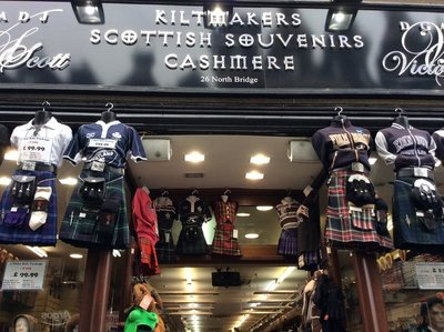 The kilt shop in Edinburgh