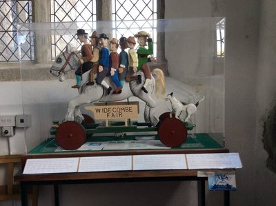 Widecombe on the Moor inside the church The story of Old Uncle Tom Cobley