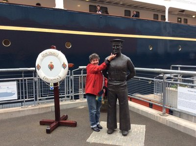 The visit to the Royal Yacht Brittania