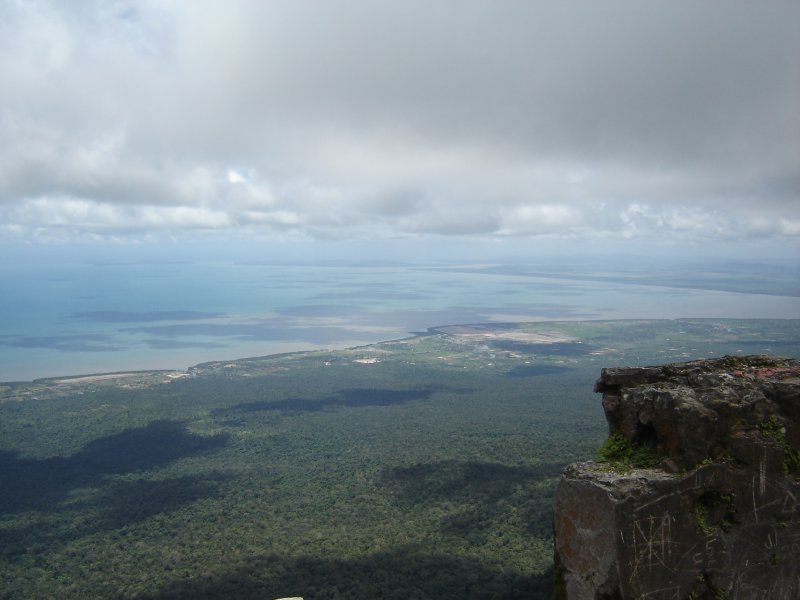 Above: View from Bokor Mountain all the way to the Gulf of Thailand.