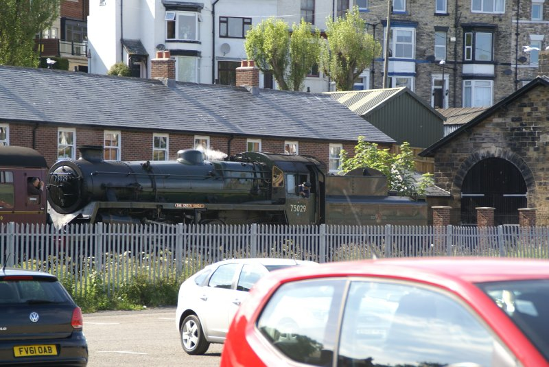 Steam train at Whitby