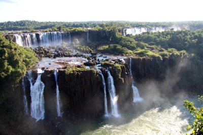 A view of some of the falls from the Brazilan side