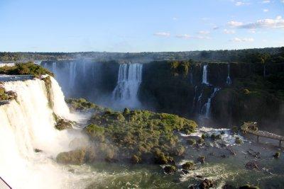 Brazilian side of the falls