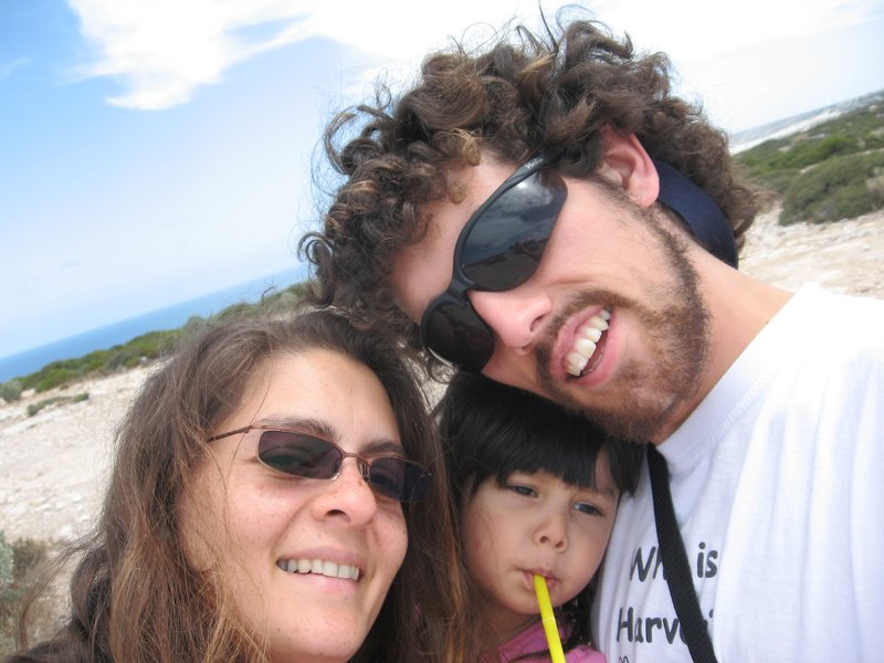 Mick, Amanda & Kia on the Nullarbor 2006