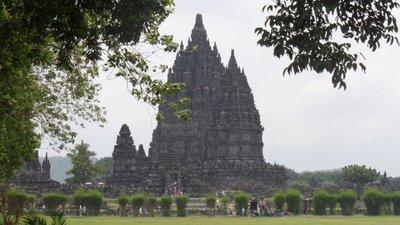 Our parting view of Prambanan