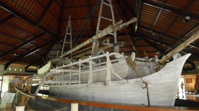 The full scale traditional boat