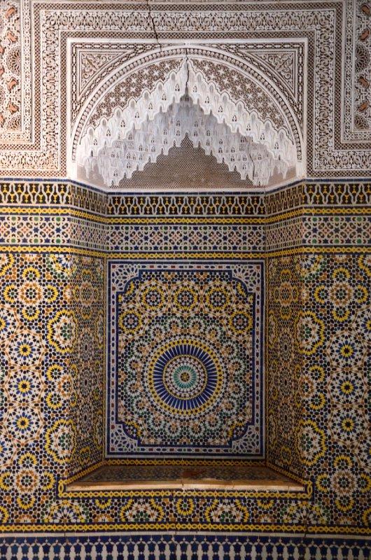 Beautiful mosaics in Telouet