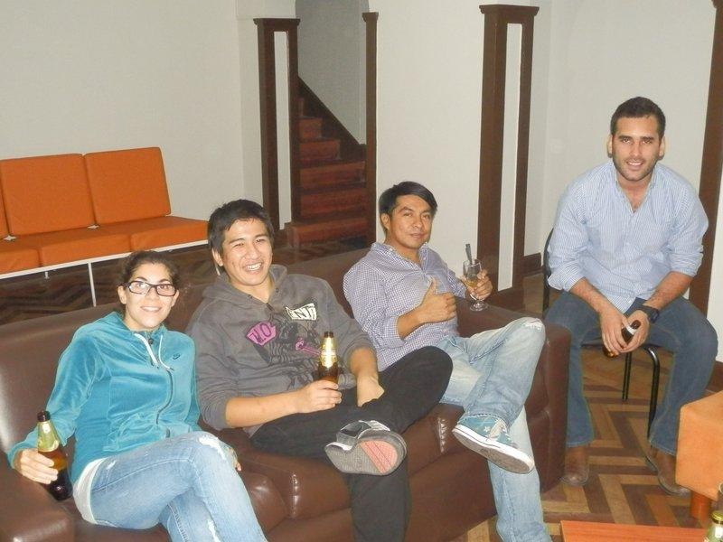 A few drinks in Peru Guesthouse
