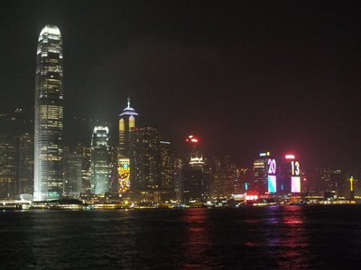 Night time in Hong Kong