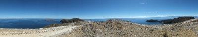View of Lake Titicaca from Isla del Sol, Bolivia