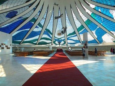 Inside the Catedral de Brasilia, Brazil
