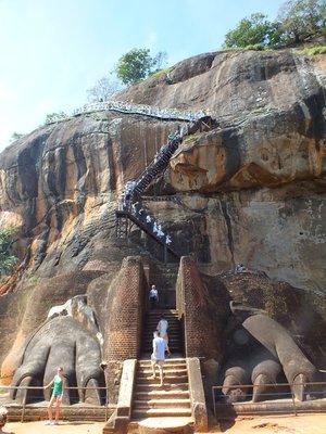 Lion Claw entrance to Sigiriya rock fortress, Sri Lanka