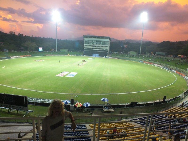 Watching Sri Lanka v Bangladesh, Pallekalle Cricket Stadium, Kandy, Sri Lanka