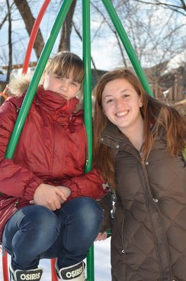A photo of me and Zhenya on the playground at the orphanage in Slobodskoy