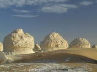 Oasis Sand and white rocks
