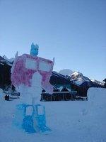 Octomus Prime Snow Sculpture
