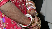 Jewelled and ivory bangles