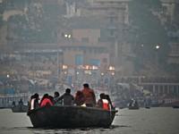 Varanasi_By boat to the 'burning ghats'
