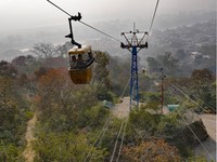 Haridwar_The cable-car up to Mansa Devi Temple