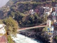 Devprayag_The bridge across the Bhagirathi River