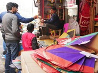 Haridwar_Kites for sale at Makar Sankranti
