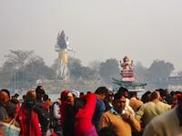 Haridwar_Crowds admiring the image of goddess Ganga