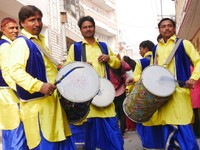 Haridwar_Drummers in the Jain procession