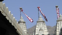 Flags on the rooftop of the Jain Temple, Ranakpur