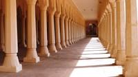 Nagaur Fort - beautifully-restored columns